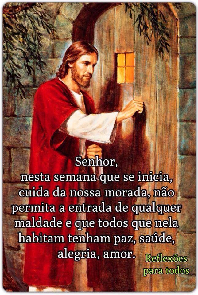 """Acesse: """"Oração para a Semana"""" (clique na imagem) #FelizSemana #Deus #oracao"""