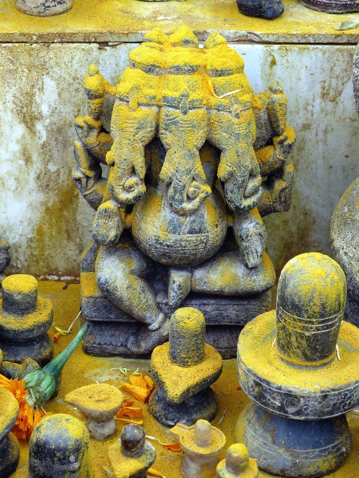 Hindu Cosmos : Three Headed Ganesha.