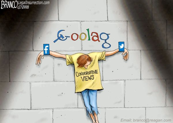 Google, Facebook, Twitter, and the rest of the Tech Left continues to persecute conservatives while cracking down on free speech and demanding that conservatives conform to the left's ideas.