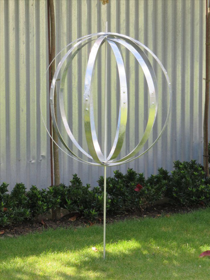 Wine Barrel Hoop Orb...various heights & sizes