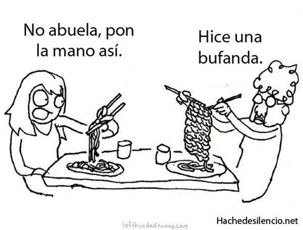 La abuela y los espagueti