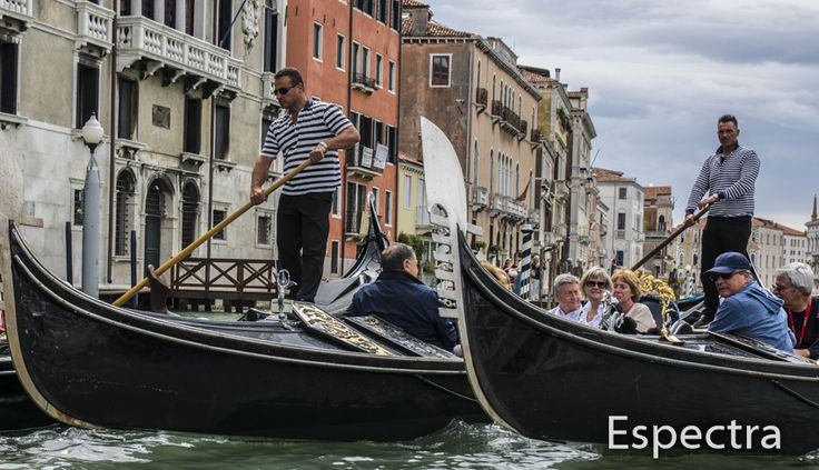 Gondolas on the Venetian waterways - Venice-Italy