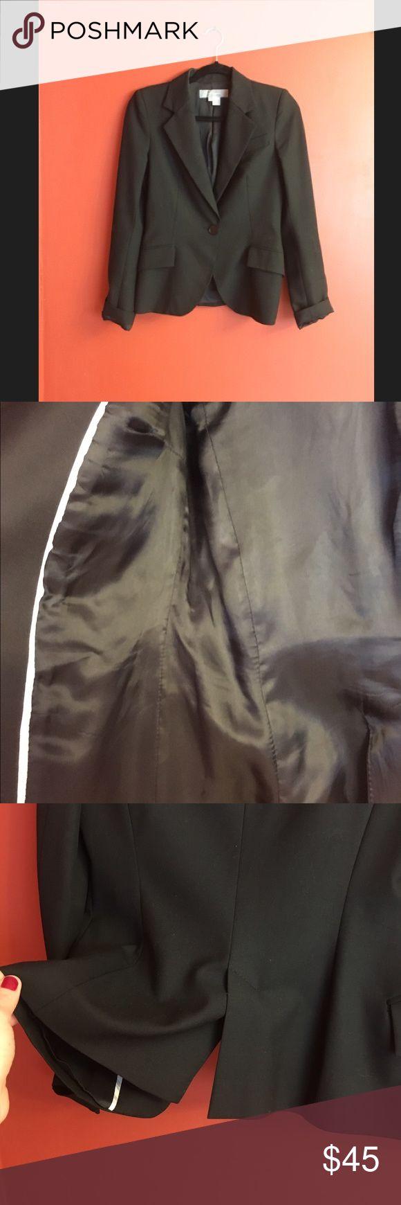 Black Womans Tuxedo Jacket Black Zara Woman Tuxedo Jacket-has some shoulder padding Zara Jackets & Coats Blazers