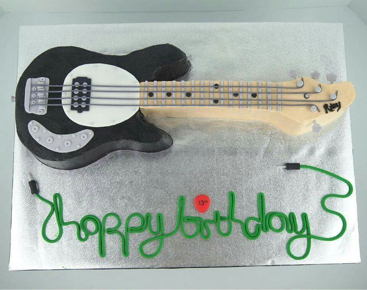 Happy Birthday Mike Guitar Cake