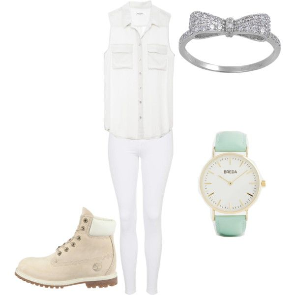 school outfit #9 by paty-porutiu on Polyvore featuring polyvore fashion style Equipment Topshop Breda Timberland