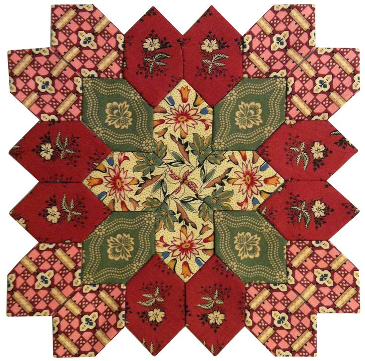 Lucy Boston Patchwork of the Crosses Block Kit #18 at Pieceful Gathering Quilt Shop, Fox River Grove, IL.