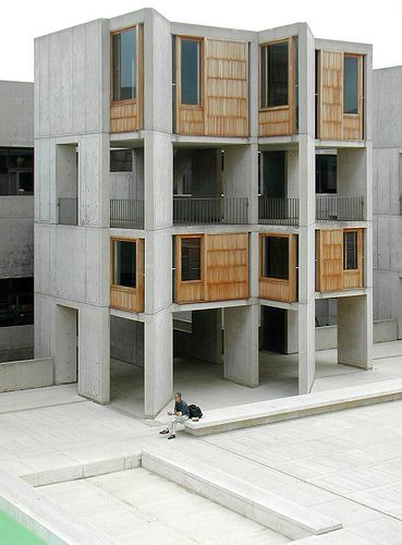 Salk Institute Love the use of concrete in this building