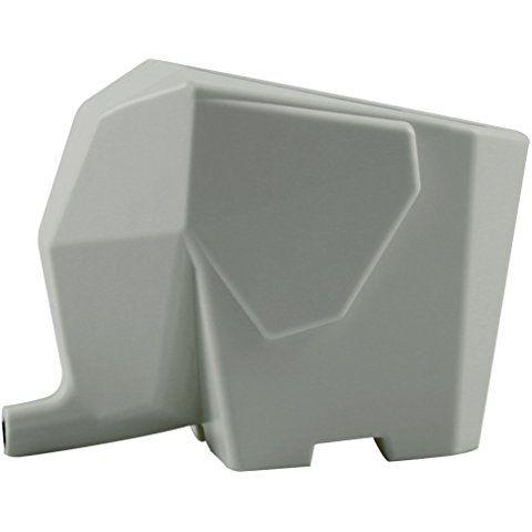 Elephant Cutlery Drainer Storage Box, Grey