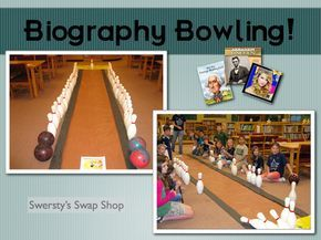Biography Bowling...LOVE it!!! Could do it for the entire library, not just biographies!