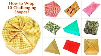 Wedding Gift Wrapping (Japanese Pleats Design) - YouTube
