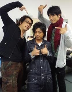 Right to left: Hiroki Takahashi (Japan), Daisuke Namikawa (Italy) and Hiroki Yasumoto, Hetalia Voice Actors