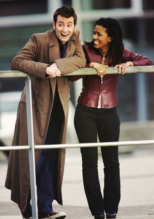 Ten and Martha Jones ~ The Doctor ~ Doctor Who - when they figure out that Jack is The Face of Boe