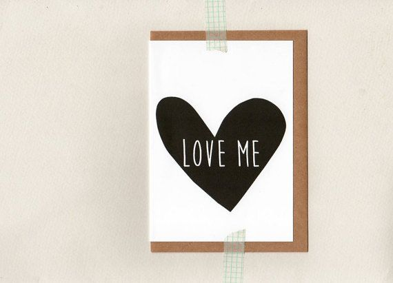 LOVE ME . greeting card . art card . wedding engagement