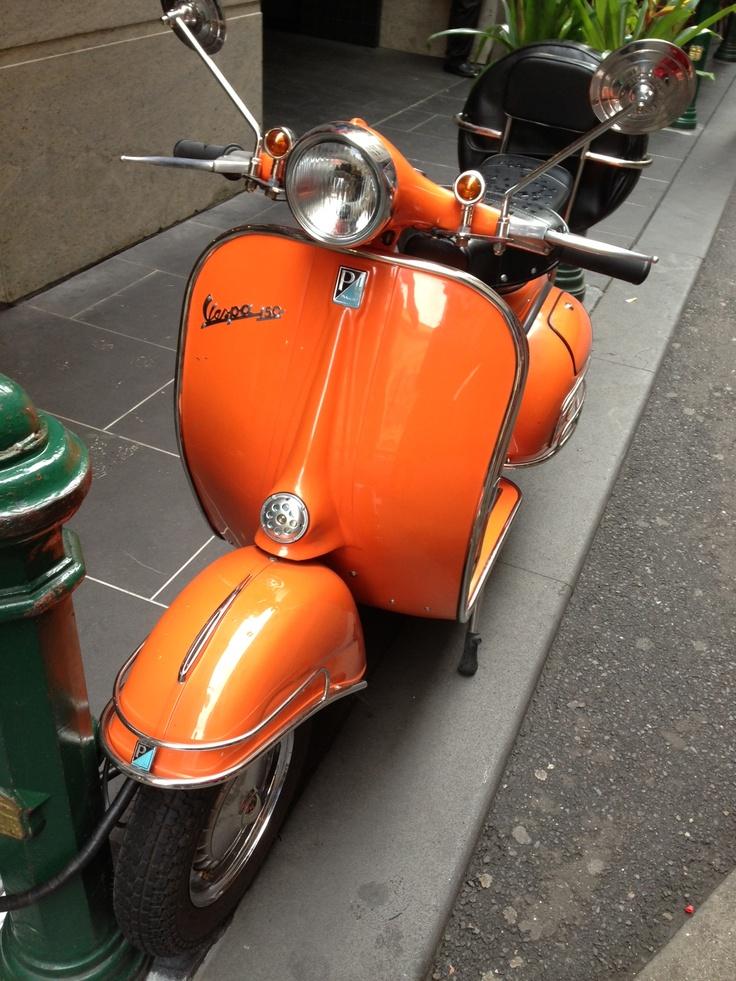 I visit old Orange Vespa Melbourne Australia