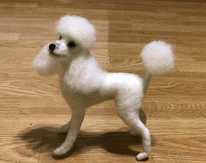 Needle Felted Poodle Dog Toy Poodle Custom Dog Portrait Wool