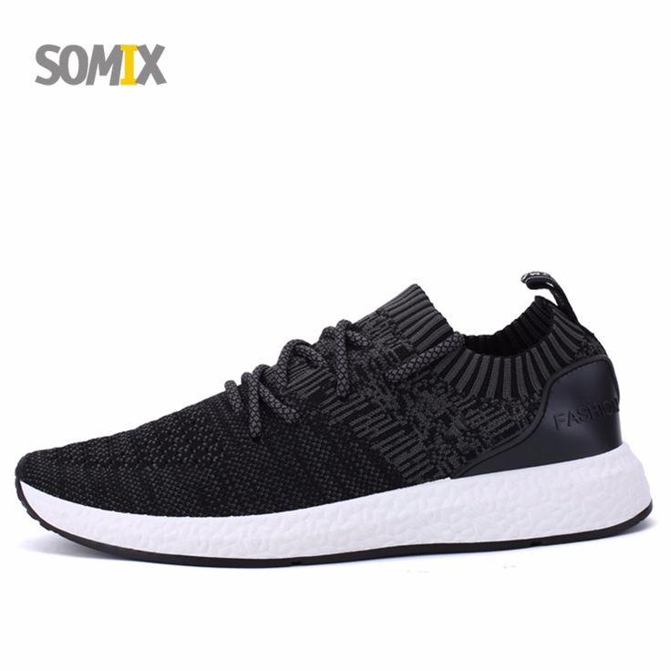 Somix Original Brand Running Shoes for Men Sock Dart Sneakers Men Mesh Breathable Hard Court Outdoor Sneakers Light Sport Shoes