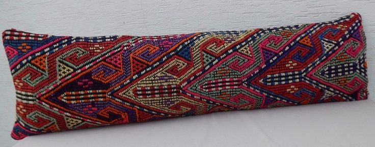 14X 48'' Pink Bedding Kilim Pillow Cover,King Bed Cushion,Queen Boho Bedding #Handmade