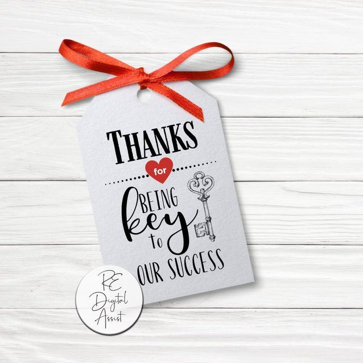 Key To Succes Real Estate Mortgage Business Printable Pop By Etsy In 2020 Business Printables Closing Gifts Client Appreciation