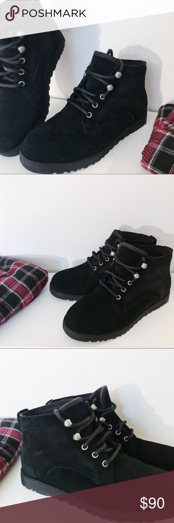 UGG Bethany Black Chukka Boot UGG Bethany slim  Black Chukka Boot Water resistant, real suede and Sherpa lining  Very comfy! Worn once and in perfect condition! UGG Shoes Ankle Boots & Booties