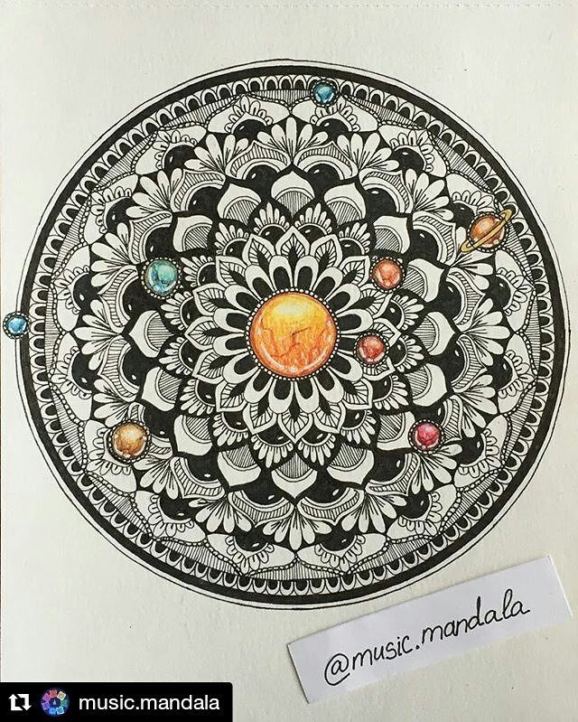 "#Repost @music.mandala with @repostapp ・・・ My new zen mandala ""Solar system"" inspired by David Bowie's song ""Starman"" and the album ""The Rise and Fall of Ziggy Stardust and the Spiders from Mars"". #sharingmandala #iphone #зенарт #зенарт_сегодня #mandala #mandalalove #mandalamagic #davidbowie #starman #zengems #solarsystem #sistemasolar #zentangle #doodling #zendoodle #followme #zenmandala #musicmandala #music #mandaladoodle #mandalaplanet"