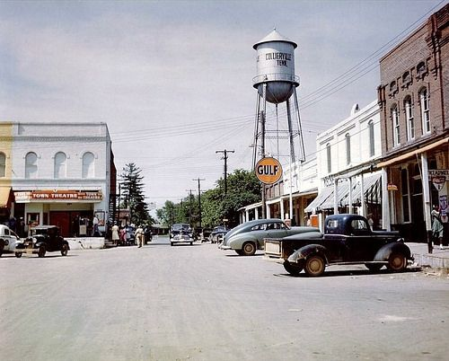 Town Square, Collierville, Tennessee 1947 By Peer Into The Past, Via Flickr  ©