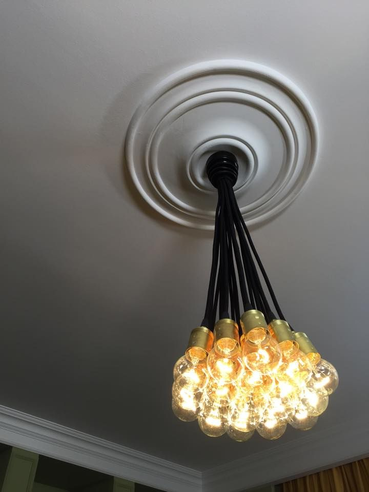 36 best fabric cable big chandeliers images on pinterest big black ceiling chandelier mozeypictures Images