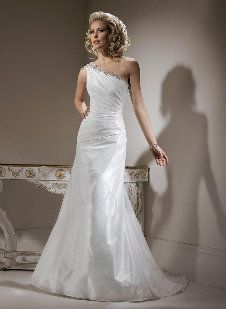One shoulder wedding dress uk pictures
