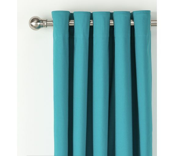 Buy ColourMatch Blackout Eyelet Curtains - 168x229cm - Teal at Argos.co.uk, visit Argos.co.uk to shop online for Curtains, Blinds, curtains and accessories, Home furnishings, Home and garden