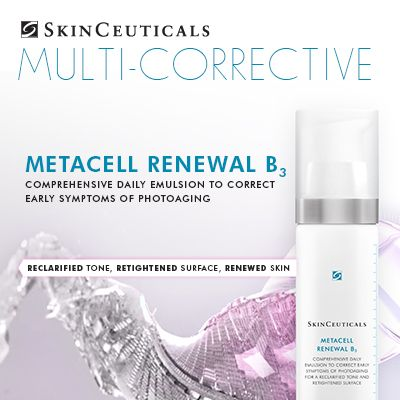 Introducing Metacell Renewal B3: A NEW comprehensive daily emulsion to correct the early symptoms of photoaging. Learn more at http://bit.ly/1yqWD2M