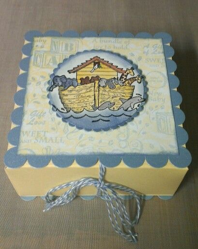 Baby boy gift box made with whimsy farm twine and heartfelt creations sweet lullaby collection