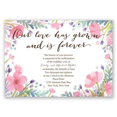 Love Grows Vow Renewal Invitation