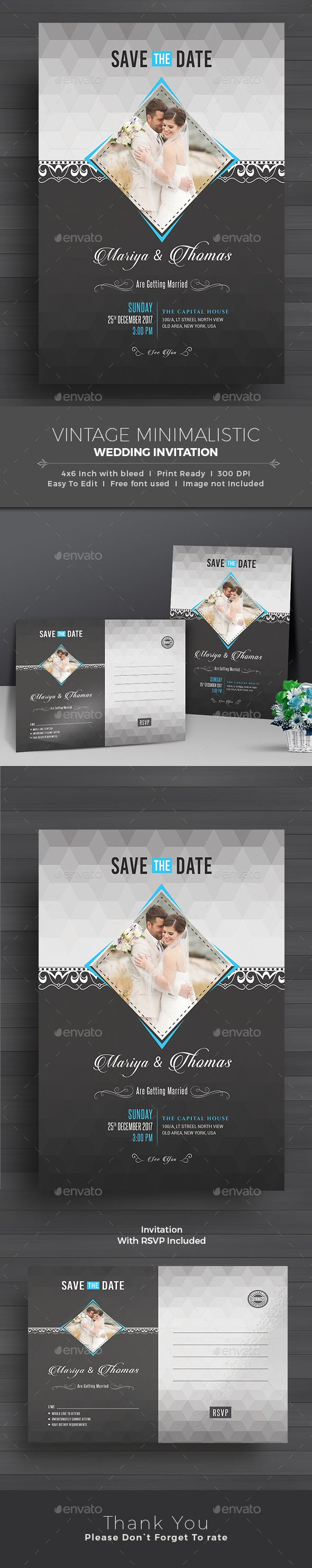 Wedding Invitation by themedevisers Elegant Wedding Invitation Card Template This Elegant Wedding Invitation Card design is suitable for both traditional and modern