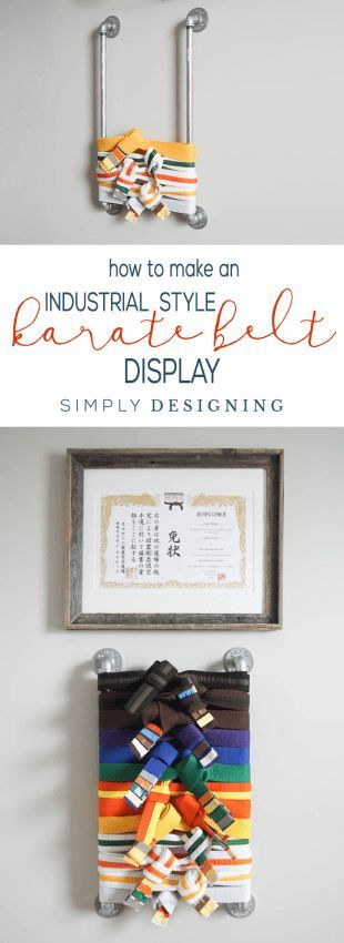 How to Make a Karate Belt Holder Easily and in only a few minutes with a fun industrial style   How to Make a Karate Belt Holder   Karate Belt Display   Martial Arts Belt Display   Martial Arts Belt Holder