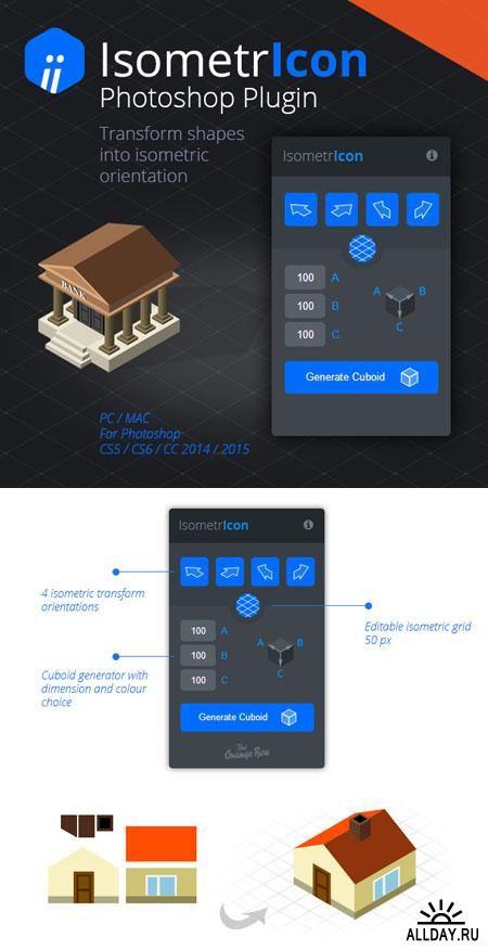 IsometrIcon Transform Tool Plugin for Photoshop (+MP4 Tutorial)