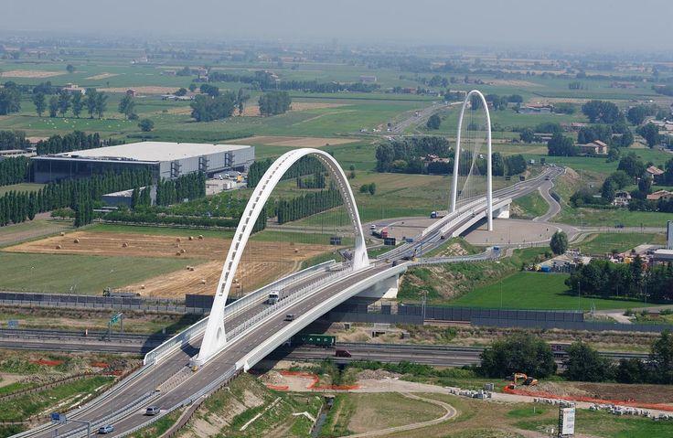 The Three Santiago Calatrava Bridges, Reggio Emilia, Italy
