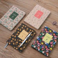 Wish | 2018 Agenda Monthly Weekly Planner Calendar Notebook Diary Portable School Supplies Cute Lovely Flowery