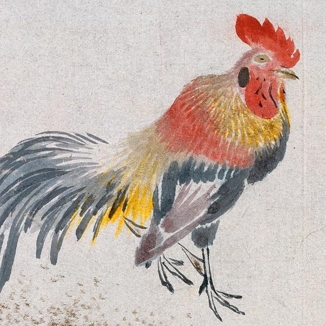 Cockfighting, Joseon Dynasty, National Museum of Korea