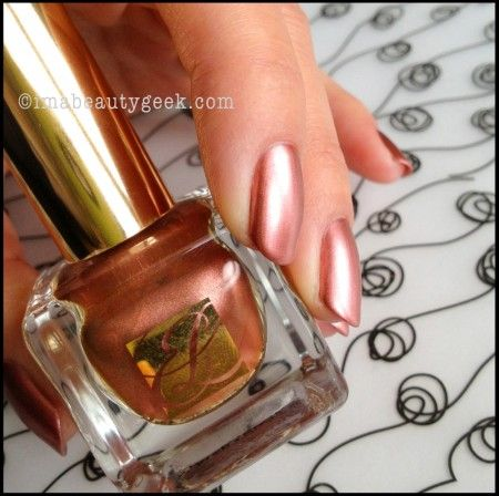 Estee Lauder The Metallics Rose Gold_mani and photo by Karen Falcon--gorgeous!