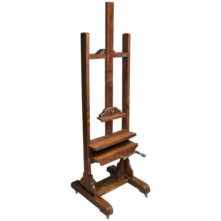Oak Studio Easel | From a unique collection of antique and modern easels at https://www.1stdibs.com/furniture/more-furniture-collectibles/easels/