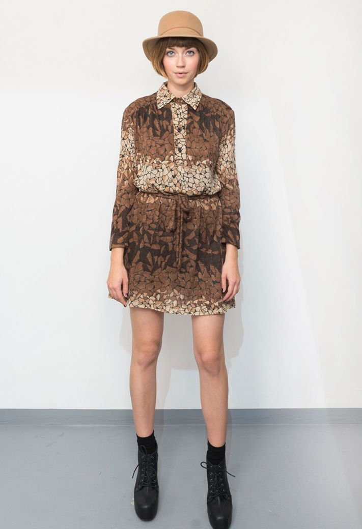 vintage/70's brown dress/aevintagestore http://www.aevintagestore.com