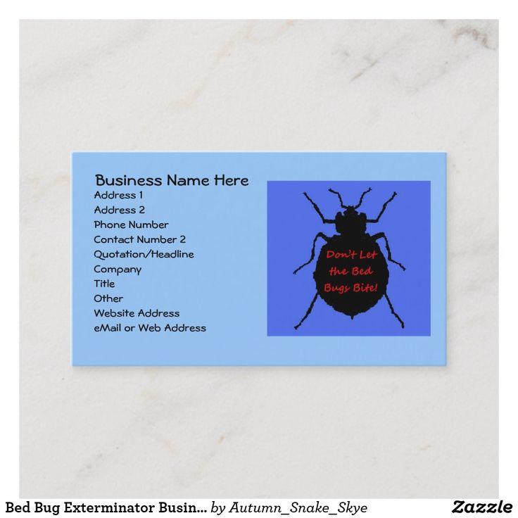 Bed Bug Exterminator Business Card Zazzle Com Bed Bugs Exterminator Bug Exterminator