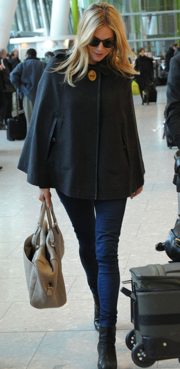 Style Yourself: Airport Attire  http://laurenmessiah.com/2013/12/style-airport-attire/  Sienna Miller