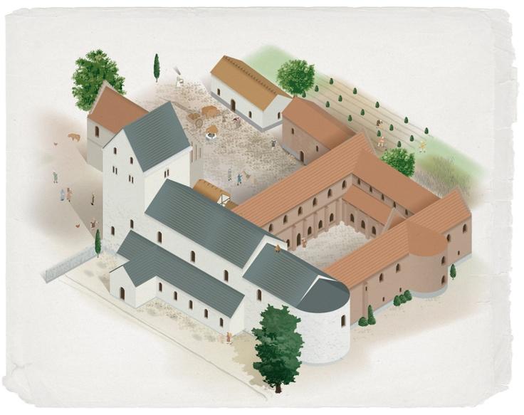 Dalby Augustinian monastery in Skåne, Sweden c:a 1400
