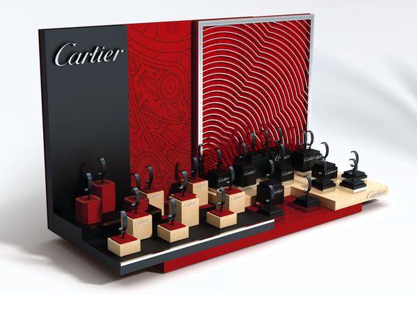 Cartier Watch display proposal 2010 by Thomas Martin Jedrzejak, via Behance