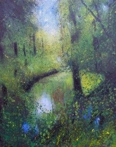 Secret Pond in Woods by Teresa Tanner