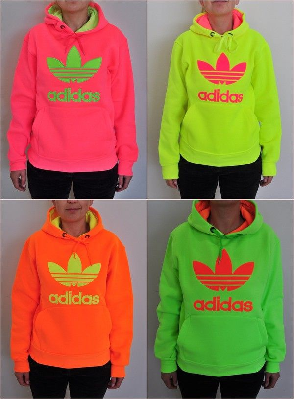 Neon colored hoodies
