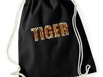 """Worek - plecak bawełniany czarny """"TIGER"""""""