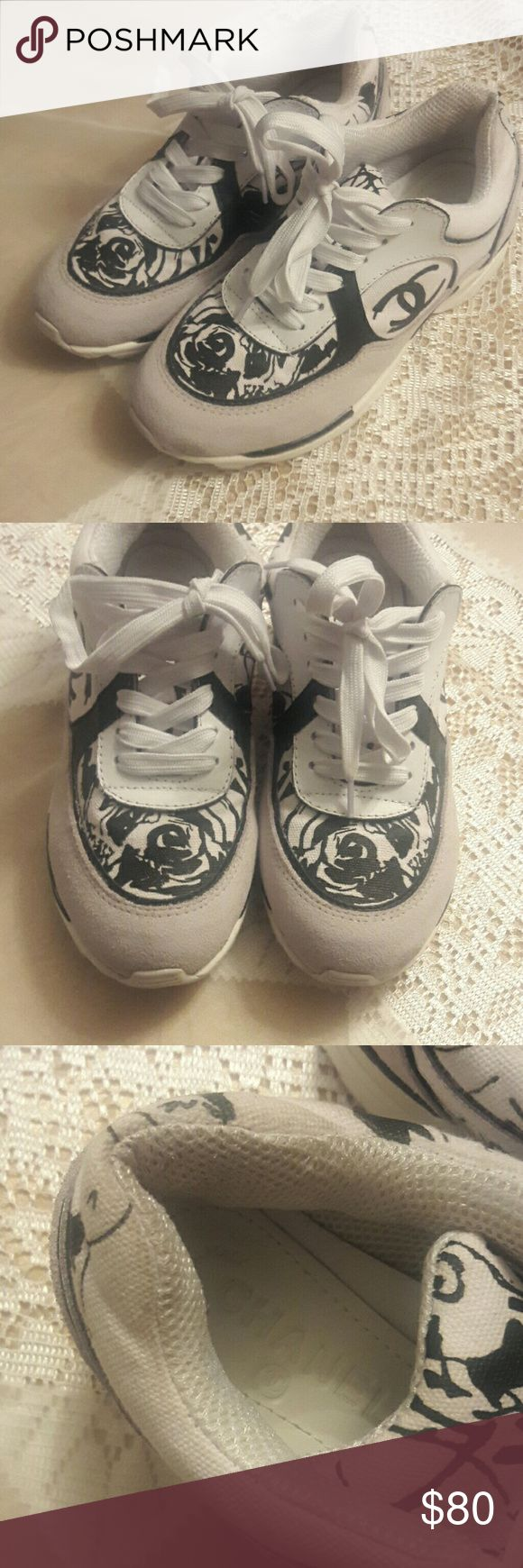 Chanel  sneakers Chanel graffiti sneakers price  reflects authenticity offers accepted CHANEL Shoes Athletic Shoes