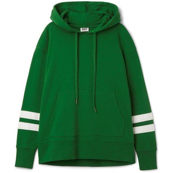 Lynn Hoodie Stripe ❤ liked on Polyvore featuring tops, hoodies, green hoodies, hooded sweatshirt, oversized hooded sweatshirt, stripe top and sweatshirt hoodies