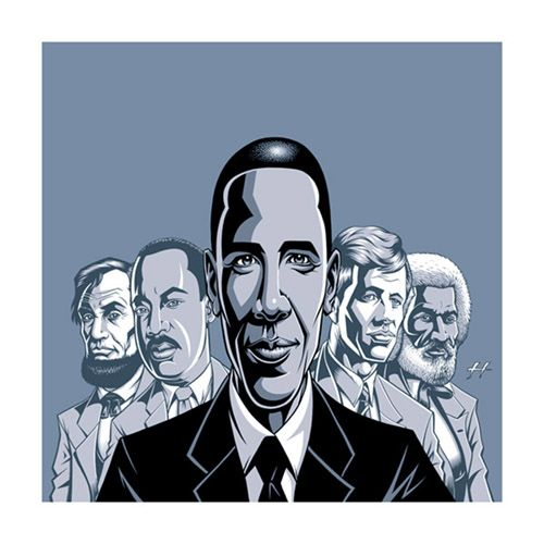"""That One"" Barack Obama Poster by Justin Hampton - Art Prints - Gallery"